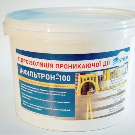 Проникающая гидроизоляция Инфильтрон-100 (ведро)