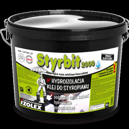 Битумно-каучуковая мастика на водной основе, клей для пенополистирола STYRBIT 2000