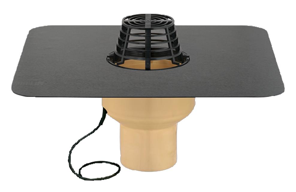 Воронка с полиуретана SitaTrendy с ПВХ или битумным фартуком и системой обогрева